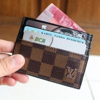 DOMPET KARTU CARD HOLDER ASLI KULIT IMPORT LOUIS VUITTON LV CC06 BRO