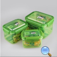 3 in 1 Green Color Food Container Set