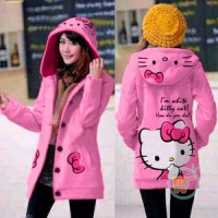 Korean hoodie jacket Hello Kitty in Pink JT385A