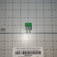 PCB Connector 2 Pin 3.5mm Pitch Terminal Block KF350 Straight Green