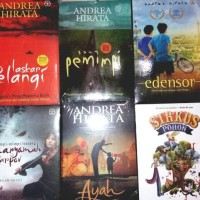 Paket 6 novel Laskar Pelangi Andrea Hirata ( tetralogi + 2 )