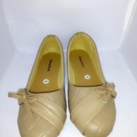 Sepatu Wanita Flatshoes Pita Motif Kulit Ular SURABAYA