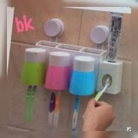 Dispenser Odol  dan Tempat Sikat Gigi / alat mandi leng Murah