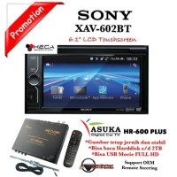 PAKET Sony XAV-602BT Double Din Tape + ASUKA HR-600 TV Tuner Digital