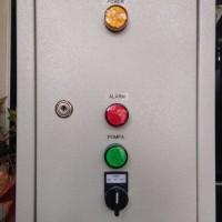 Panel Kontrol Otomatis Penguras Kolam / Tandon Bawah dgn Alarm High