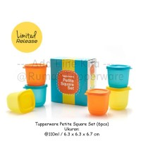 Jual Tupperware Petite Square Set (6pcs Kotak Kecil Imut Permen) Murah