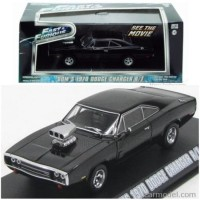 Miniatur mobil 1:43 Dom's 1970 Dodge Charger R/T Fast Furious old