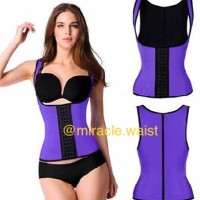 Miracle Waist Trainer L Purple/Waist Shaper/Korset VEST Pelangsing