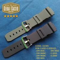 TALI STRAP JAM CASIO GSHOCK DW-9000C - DW 9000 C - DW9000C HITAM HIJAU