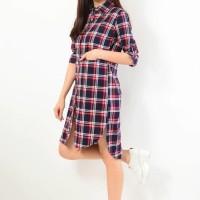 TERMURAH  Tunik Kemeja Panjang Fashion Atasan Pakaian Baju Wanita