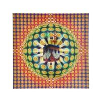 Kaligrafi Hologram Lembaran 'Ka'bah' Ukuran 33x33 cm (020)