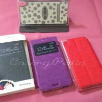 Sony Xperia M4 Aqua Flip Cover View Stand Case | Casing Hp | Sarung Hp