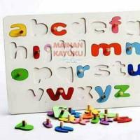 Jual Mainan Kayu Knop Huruf Alfabet Kecil (non toxic) Murah