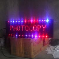 Tulisan Lampu Led Sign display USAHA PRINT PHOTOCOPY FOTOCOPY