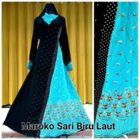 abaya maroko sari india plus pasmina