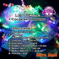 Jual Lampu Natal Hias LED RGB (Red-Green-Blue) + Colokan Sambung Murah