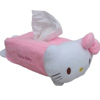 Tempat Tissue Boneka Hello Kitty / Doraemon