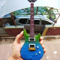 Miniatur Gitar PRS Blue Green Faded Santana Signature