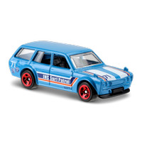 '71 Datsun Bluebird 510 Wagon Biru / Blue - HW Hotwheels Hot Wheels