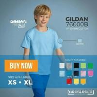 Baju kaos anak polos gildan premium kids