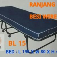 RANJANG LIPAT BESI SERBA GUNA-FOLDING BED(FREE ONGKIR JATIM-JATENG)