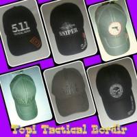 Topi Bordir Tactical series aneka macam