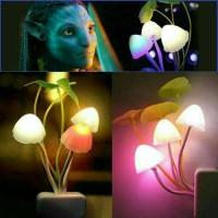 Jual Lampu Tidur Jamur Avatar Mushroom Sensor Cahaya LED Night Lamp Murah