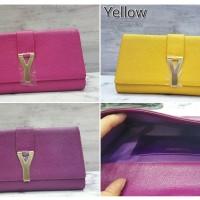 YSL Clutch Taiga / Sling Bag / Tas Selempang Wanita Branded