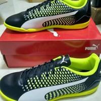 Sepatu Futsal Puma Adreno 3 III Black White Yellow 104047 07