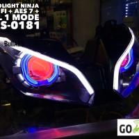 harga Headlamp Ninja 250 Fi Dengan Projector Aes 7 Tokopedia.com