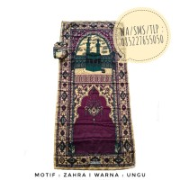 Sajadah Traveling Murah Motif Zahra Ungu 0852-2765-5050