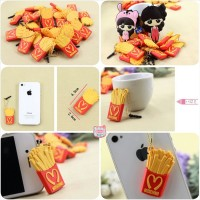 MOSCHINO FRECH FRIES PLUGGY SAMSUNG IPHONE CASE EARPHONE EARPLUG
