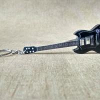 Gantungan Kunci Gitar Gibson SG Black Toni Iommi Model