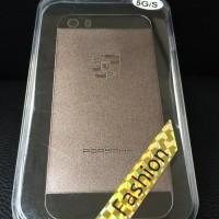 Hard Case Porsche Metal Gold Black Back Cover Casing Iphone 5 5s