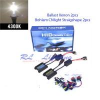 LAMPU HID XENON H11 Komplit 4300k - Putih Kekuningan GARANSI 12 BULAN