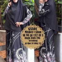 Gamis abaya maxi dress bergo kerudung syari baju muslimah GSA 01