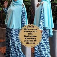 Gamis abaya maxi dress bergo kerudung syari baju muslimah GSA 02