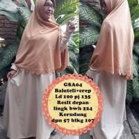Gamis abaya maxi dress bergo kerudung syari baju muslimah GSA 04