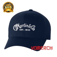 Topi Baseball Navy MARTIN AND CO GUITAR Keren Warung Kaos