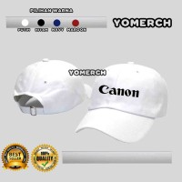 Topi Baseball Putih CAMERA KAMERA CANON Keren Warung Kaos