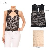 TC42 - Lace Top with bra pad