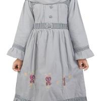TERMURAH Dress / Gamis Anak Perempuan katun Abu Catenzo Junior CSG 104