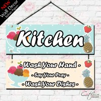 WDG004 KITCHEN RULES - home wall decor hiasan dinding poster | DAPUR