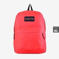 ORIGINAL JanSport Tas Superbreak Backpack Fluorescent Red