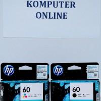 HP 60 Black/Color Cartridge Printer Tinta 100% Original