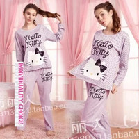 Baju Tidur Cewek Grosir Murah Piyama Hello Kitty Lavender