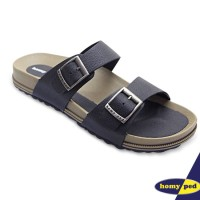 HOMYPED SANDAL PRIA NAVARA 806 LEATHER BLACK