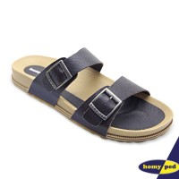 HOMYPED SANDAL PRIA NAVARA 801 LEATHER COFFEE
