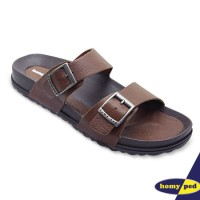 HOMYPED SANDAL PRIA NAVARA 806 LEATHER BROWN