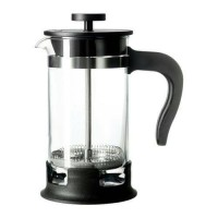 New IKEA UPPHETTA Coffee tea french press 0 4L glass stainless steel